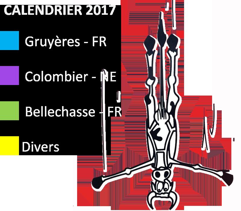 Legende Calendrier 2017