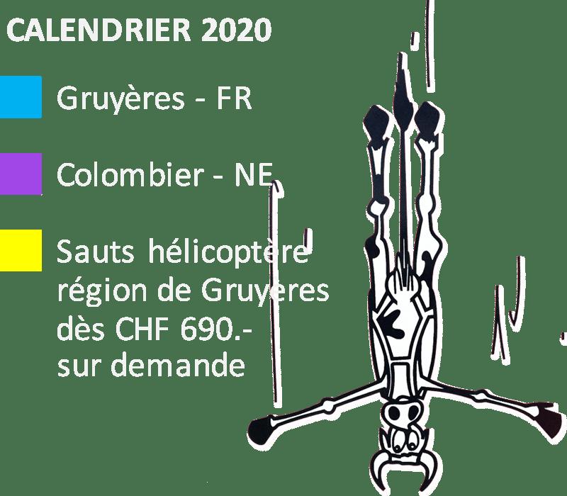Legende Calendrier 2020
